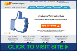 Screenshot of WebHostingBuzz homepage. Click image to visit site.