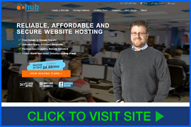 Screenshot of Hub homepage. Click image to visit site.