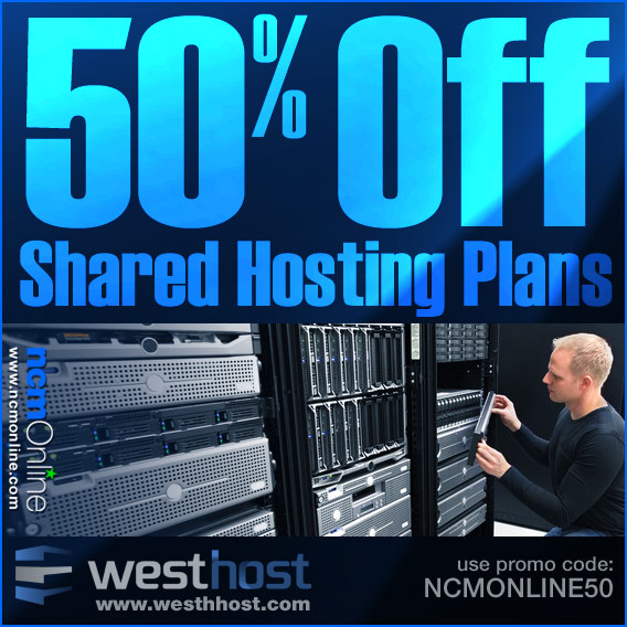 Click for WestHost 50% Shared Hosting Discount.