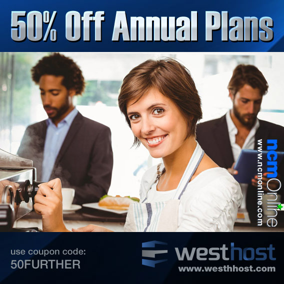 Click for WestHost 50% Discount.