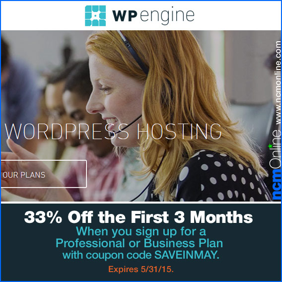 Click for WP Engine 3 Months Free.