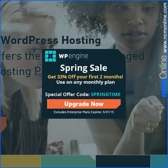 Click for WP Engine 33% Off First 2 Months.
